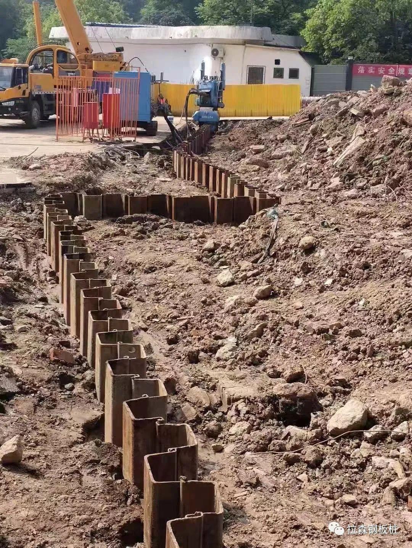 静压钢板桩在武汉解放公园停车场改造工程应用